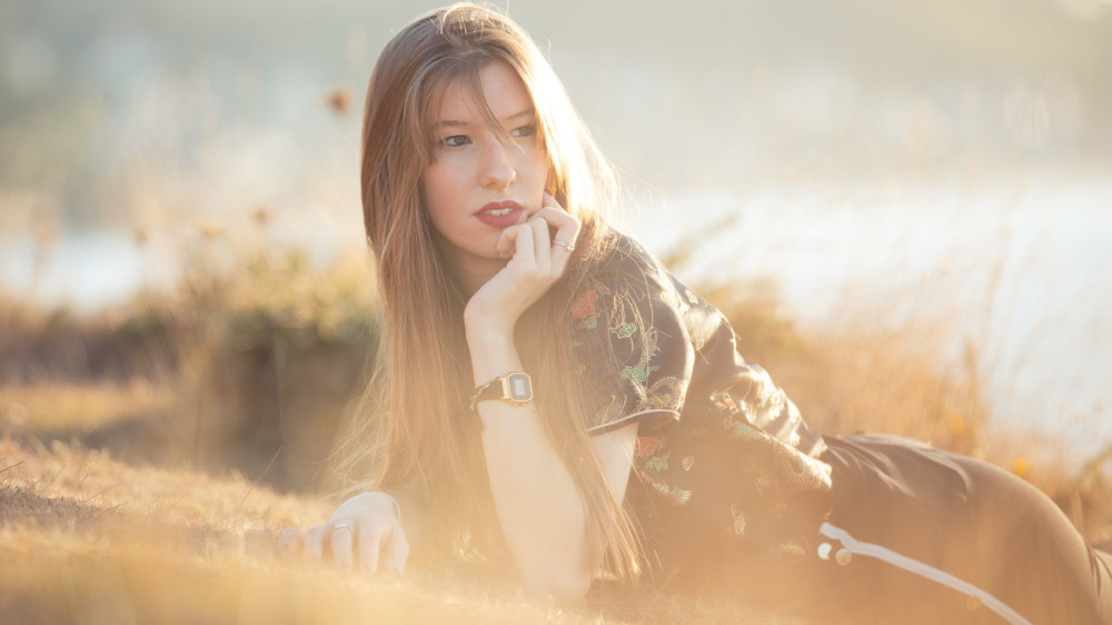 Shooting photo modèle féminin en bretagne
